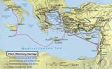 Apostle Paul's Missionary Journeys Map 3